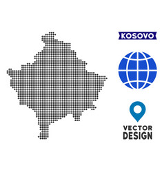 Dotted kosovo map vector