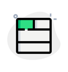 Double bar bottom with split section layout vector