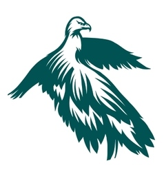 Eagle stylized symbol vector