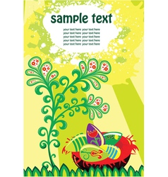 Easter background with eggs vector