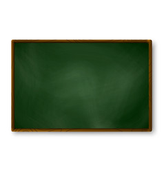 empty blackboard dark green color on wall vector image