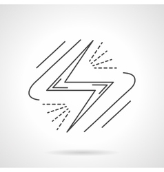 Energy sign Flat line design icon vector image