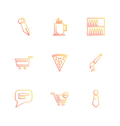 Food shopping health healthy eps icons set vector