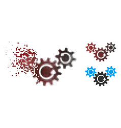 Fragmented pixel halftone transmission wheels vector