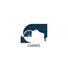 france cannes skyline vector image