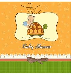 Funny baboy announcement card vector