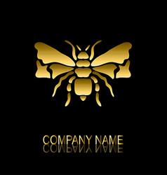 Golden bee symbol vector