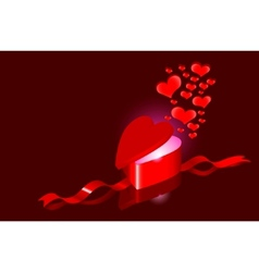 hearts as love present vector image