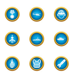 Hero icons set flat style vector