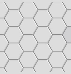 hexagon texture block vector image