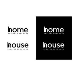Home for logo design editable vector