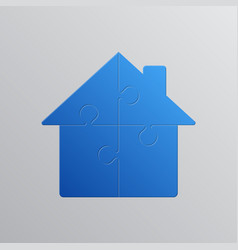 House puzzle 4 pieces puzzle renting leasing vector