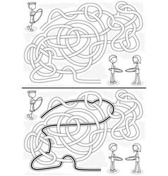 Hula hoop maze vector