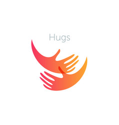 Human hugs support and love symbol pregnancy vector