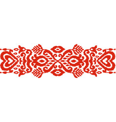 ikat ethnic seamless stripe ornament vector image