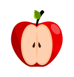isolated cut red apple icon vector image