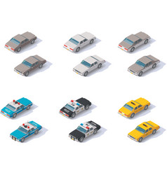 Isometric cars set vector
