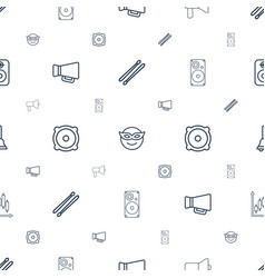 Loud icons pattern seamless white background vector