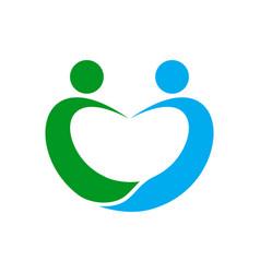 love shape social care symbol design vector image