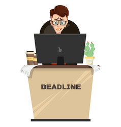 Manager in workplace deadline vector