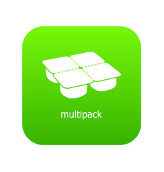 many packages icon green vector image