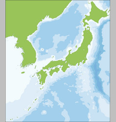 Map japanese territory vector