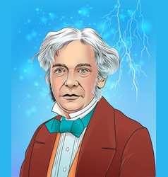 michael faraday vector image
