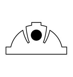 mining helmet isolated icon vector image