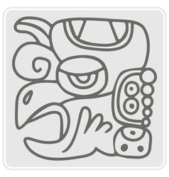 Monochrome icon with glyphs maya periods vector