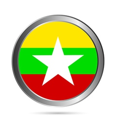 Myanmar flag button vector