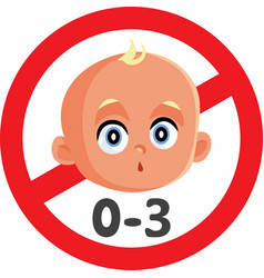 Not suitable for children under 3 years sign vector