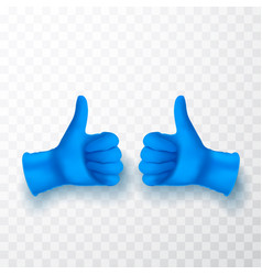 ok okay sing realistic medical latex gloves vector image