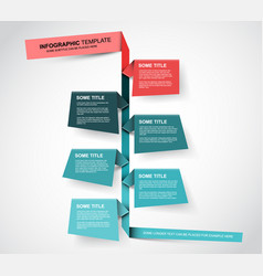 Paper timeline template vector