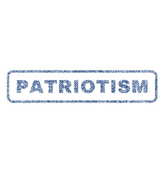Patriotism textile stamp vector
