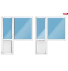 Pvc balcony window and door vector