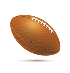 realistic rugby ball for betting design vector image