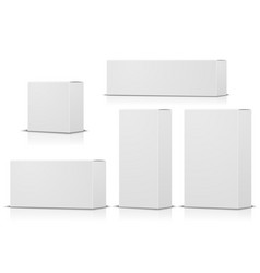 realistic set paper boxes isolated on white vector image