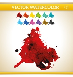 Red Watercolor Artistic Splash for Design and vector image