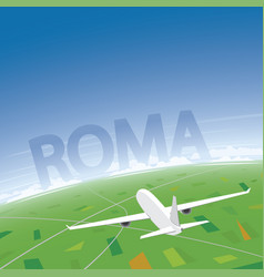 Rome flight destination vector