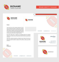 rugby ball business letterhead envelope and vector image