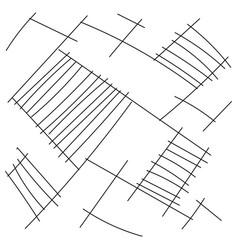 set of lines drawn pencil vector image
