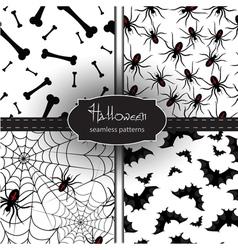 Set of seamless Halloween backgrounds vector