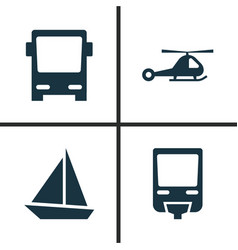 Shipment icons set collection of chopper omnibus vector