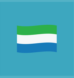 sierra leone flag icon in flat design vector image