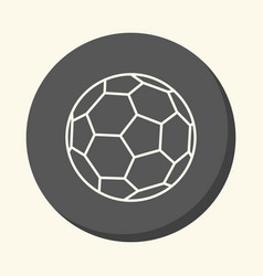 Soccer ball round linear icon with an vector