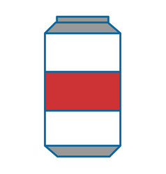 Soda drink can icon vector