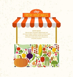 Store fresh vegetables Organic food Elements and vector