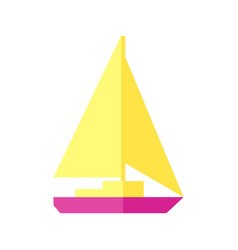 Sunny a sailboat vector