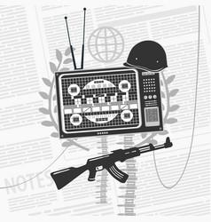 symbol information war concept vector image