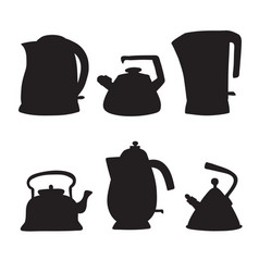 tea time cartoon set isolated objects vector image